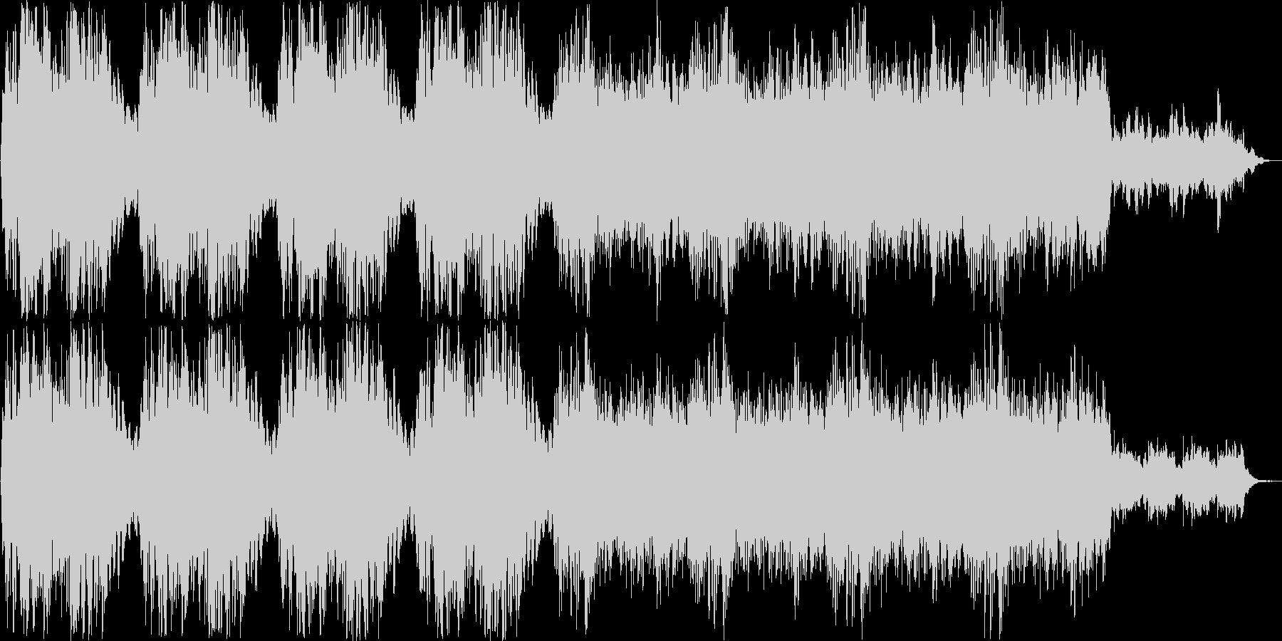 ファンタジーなシンセサイザー曲の未再生の波形