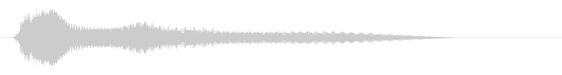 小さな物体が移動する音の未再生の波形