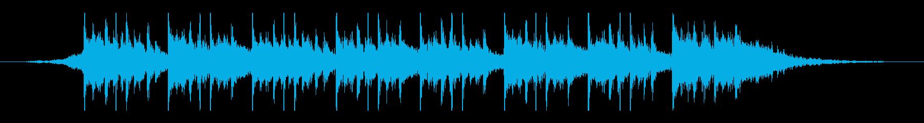 アラビア語(25秒)の再生済みの波形