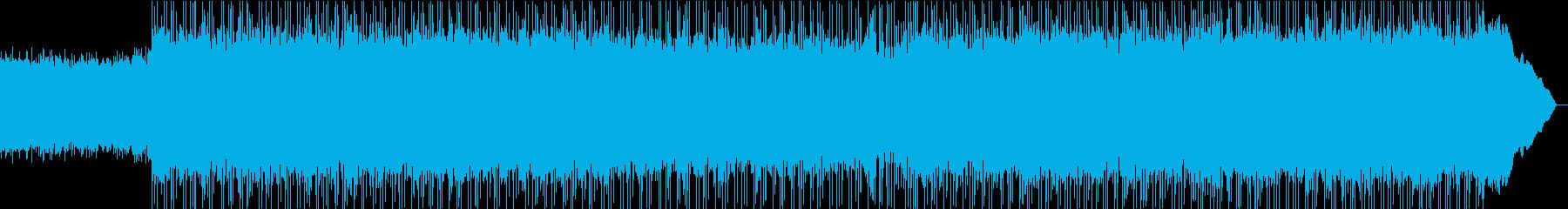 アップビートでクラシックなロックトラックの再生済みの波形