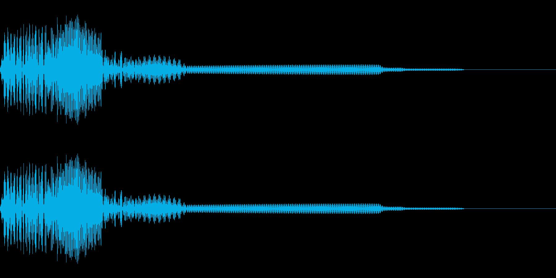 ビープ音が鳴る22の再生済みの波形