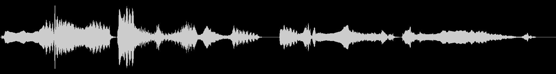 尺八の独奏 生演奏 和風のシーンなど 3の未再生の波形