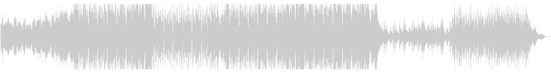 オーケストラ楽器を使ったエレクトロ風曲の未再生の波形