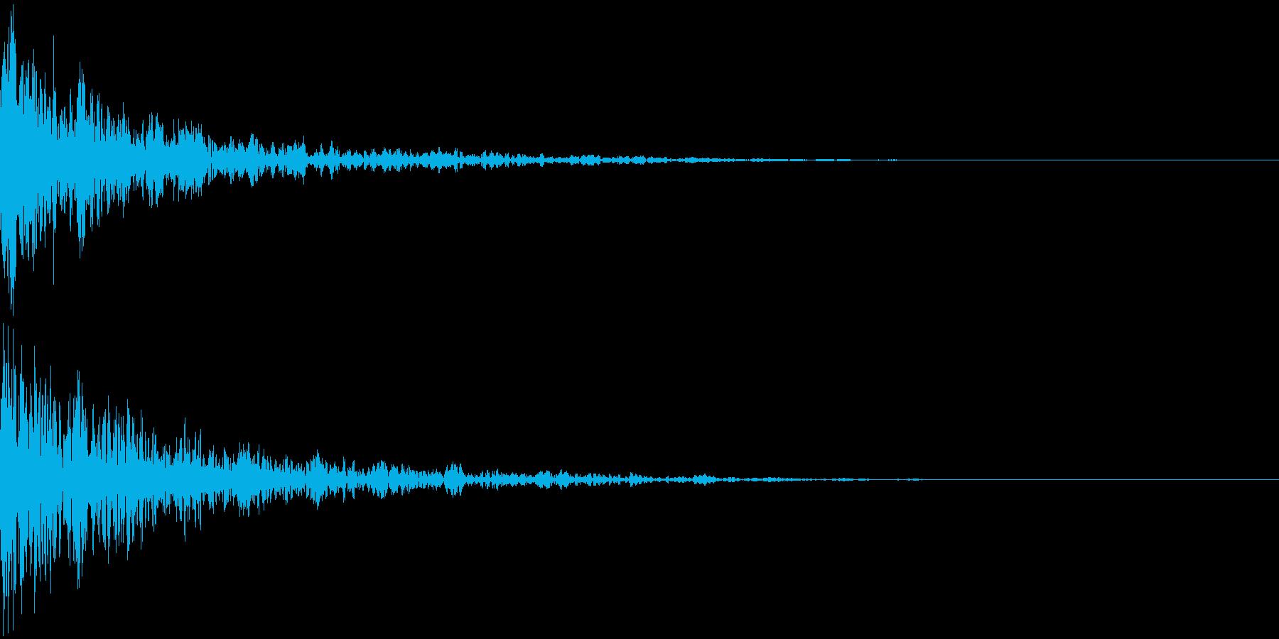 ドーン-47-2(インパクト音)の再生済みの波形