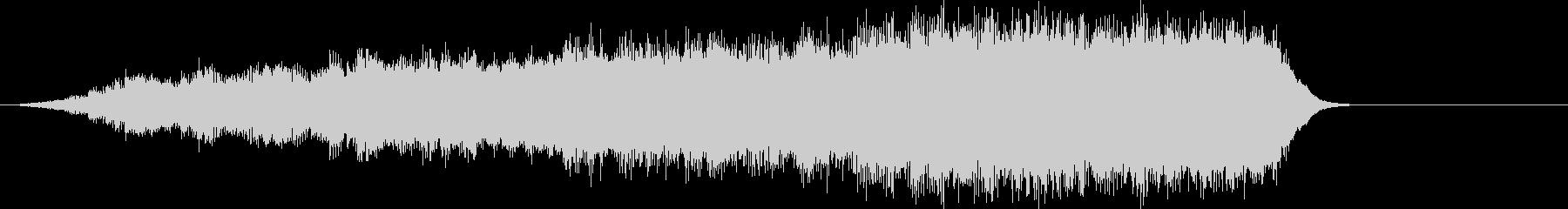 音楽ロゴ;神秘的なシンセサイザーオ...の未再生の波形