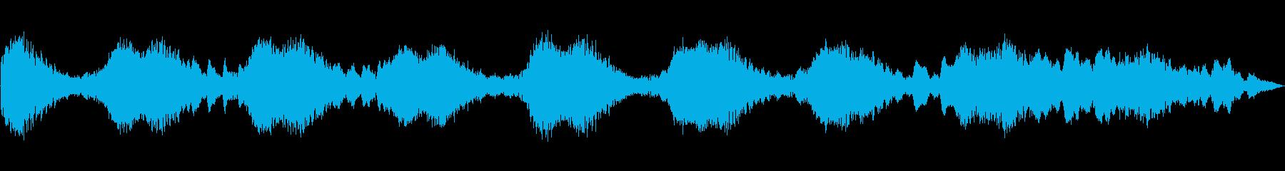 緊張感がありミステリアスな楽曲の再生済みの波形