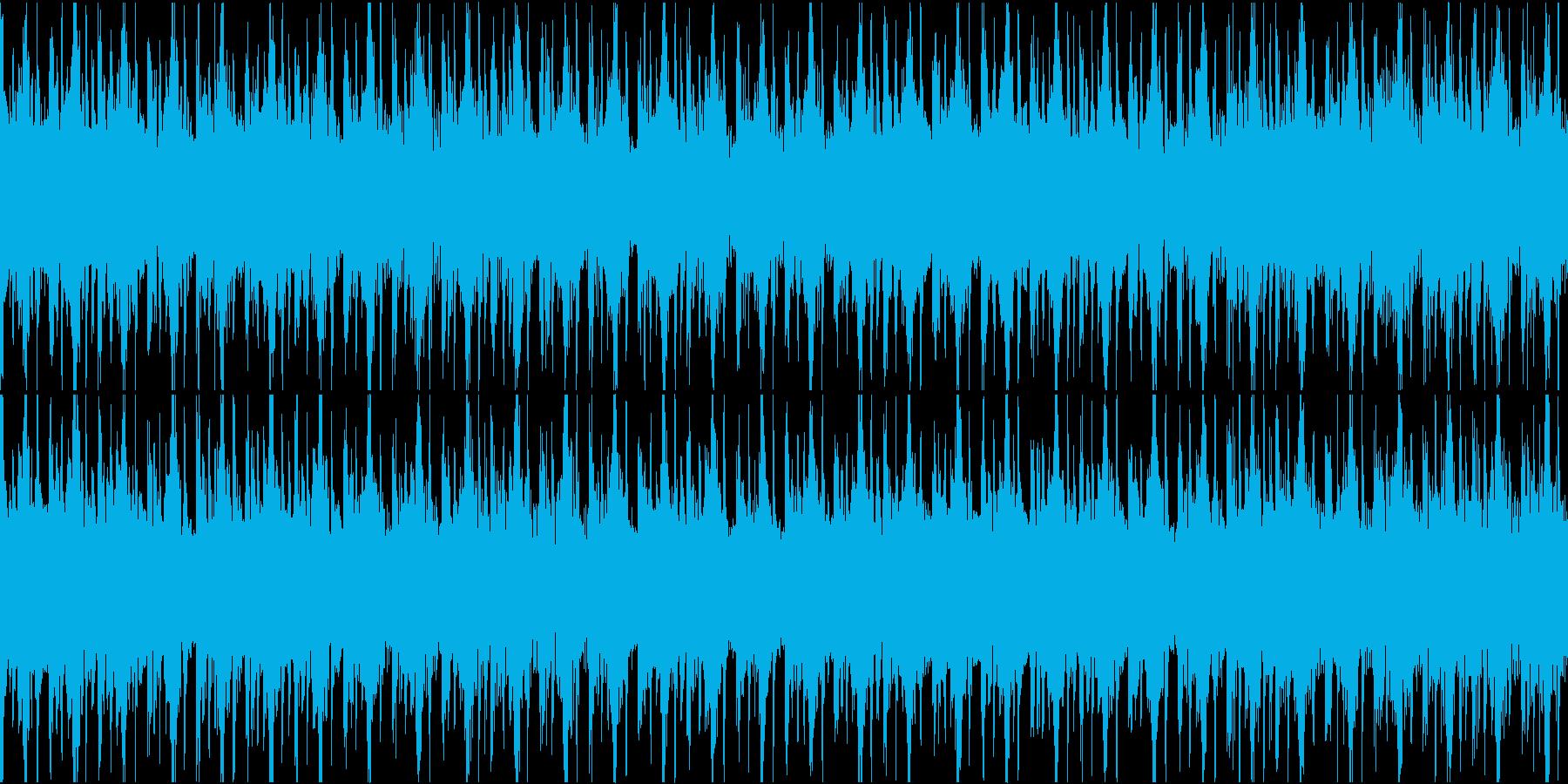 スペイシーなダンスミュージックの再生済みの波形