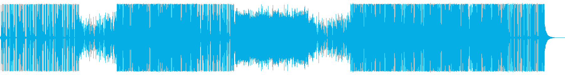 無機質なエレクトロ/ハウスミュージック/の再生済みの波形
