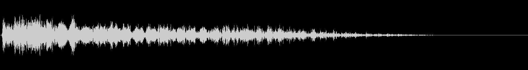 ティンパニドラムヒット&ロングロー...の未再生の波形
