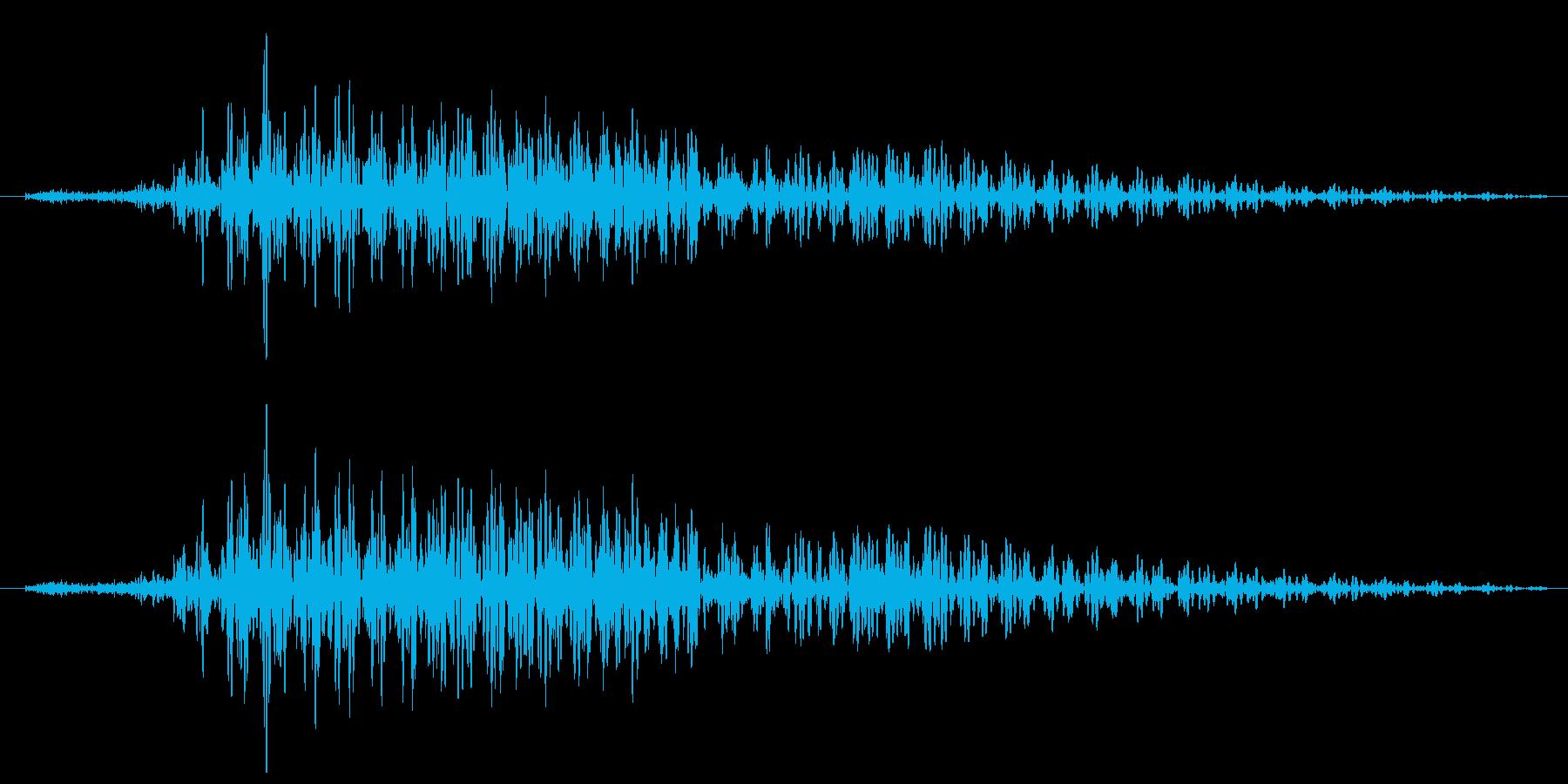 バイクのエンジン音の再生済みの波形