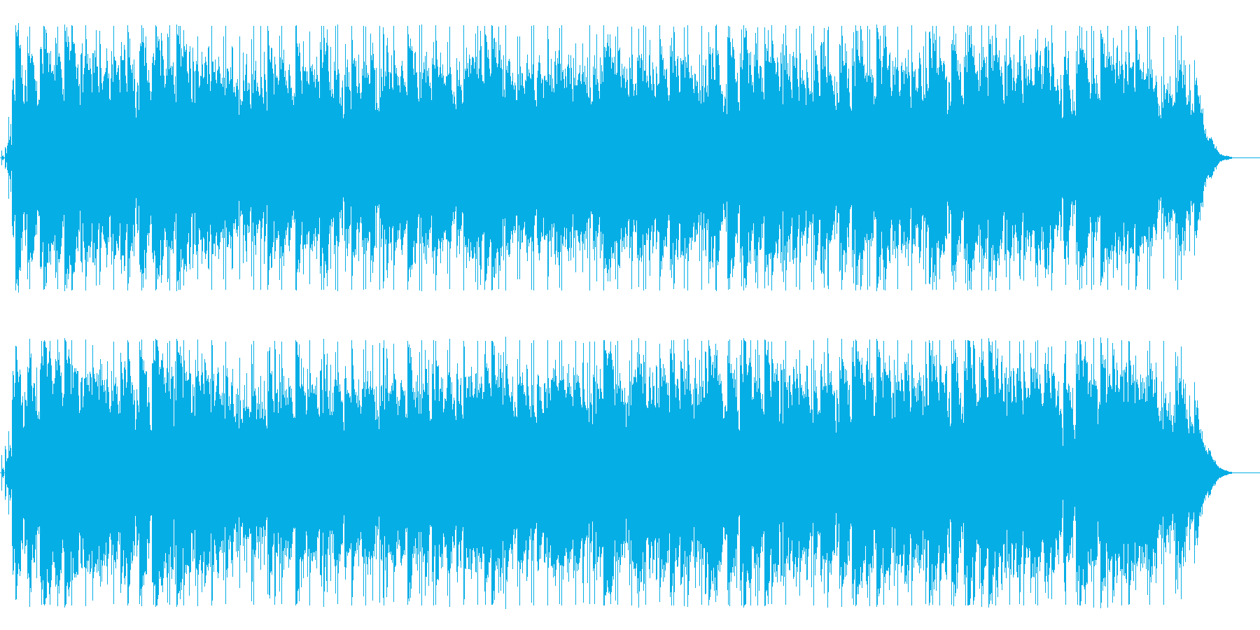 落ち着いた大人な雰囲気の癒しBGMの再生済みの波形