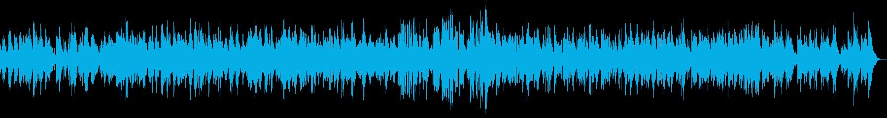 ピアノのイージーリスニングの再生済みの波形