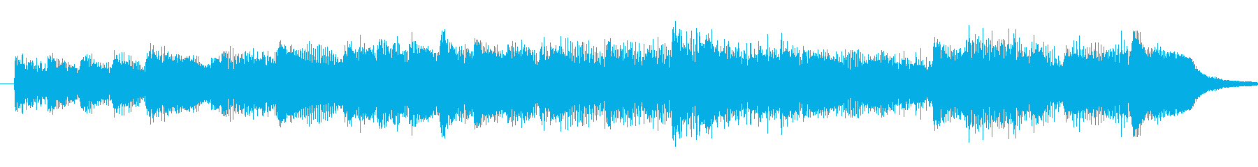 Refreshing piano opening jingle's reproduced waveform