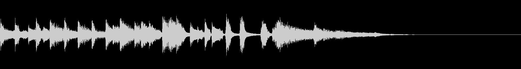 ほのぼのかわいいボサノバのジングルの未再生の波形