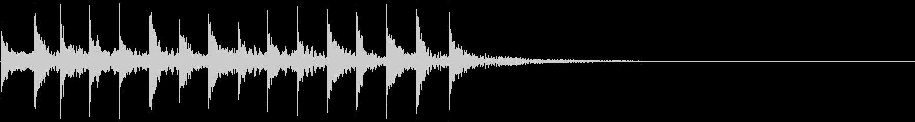 トゥルルリン(場面転換音)の未再生の波形