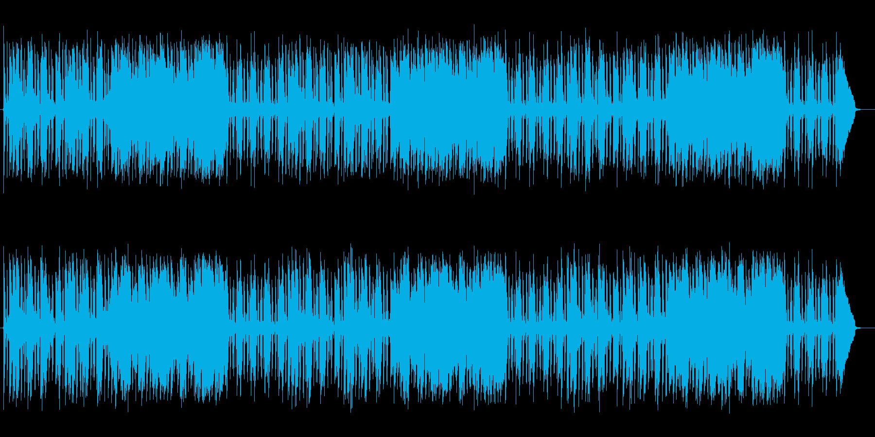 軽快で跳ねるリズムが特徴のポップスの再生済みの波形