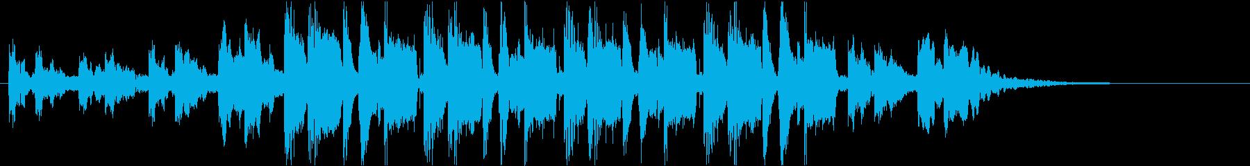 30秒CM向け 怪しい電子ミュージックの再生済みの波形