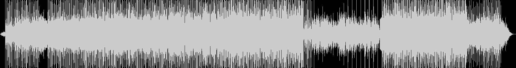 マイナーレトロ調なシンセ、ギターサウンドの未再生の波形