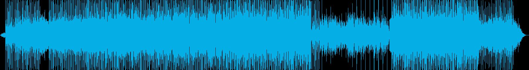 マイナーレトロ調なシンセ、ギターサウンドの再生済みの波形