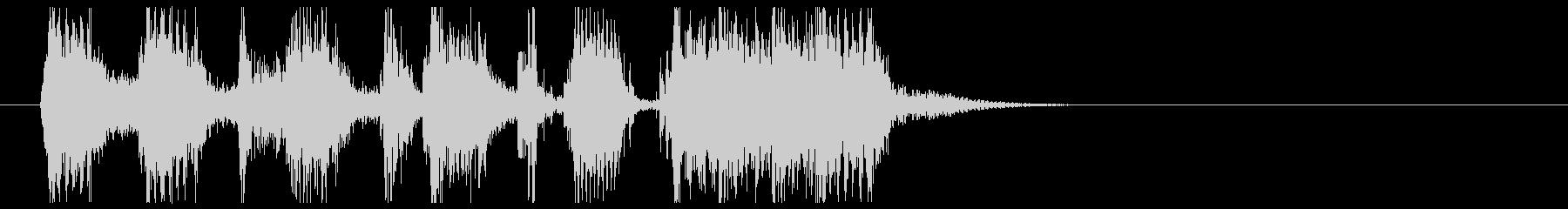 コミカルなシーンなどの導入音の未再生の波形