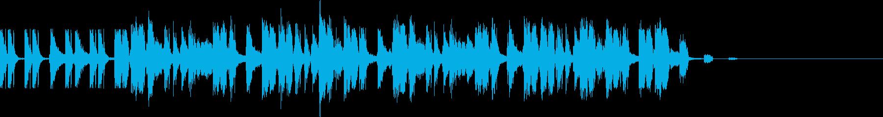 コミカルでかわいいジングルの再生済みの波形