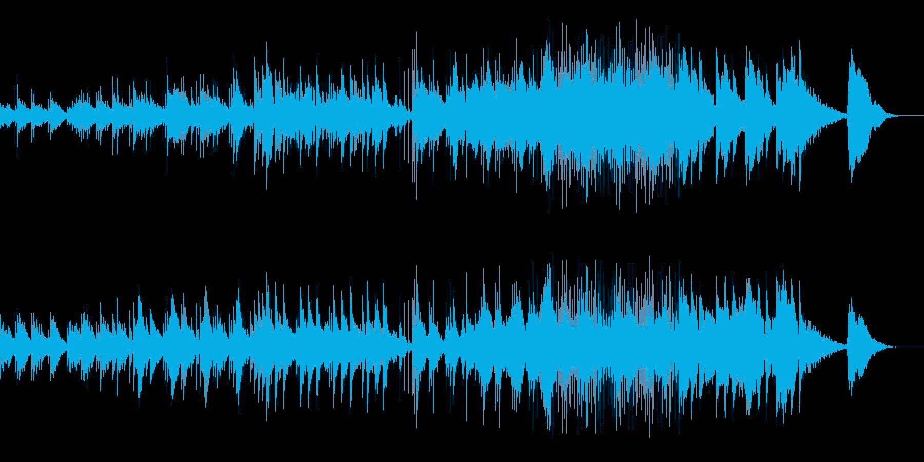 アコギタとピアノメインのインストの再生済みの波形