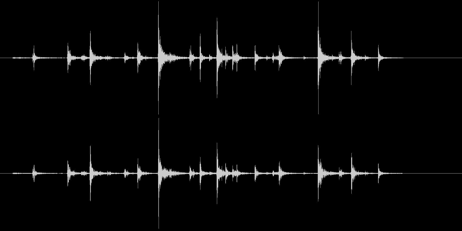 PCキーボード入力4の未再生の波形