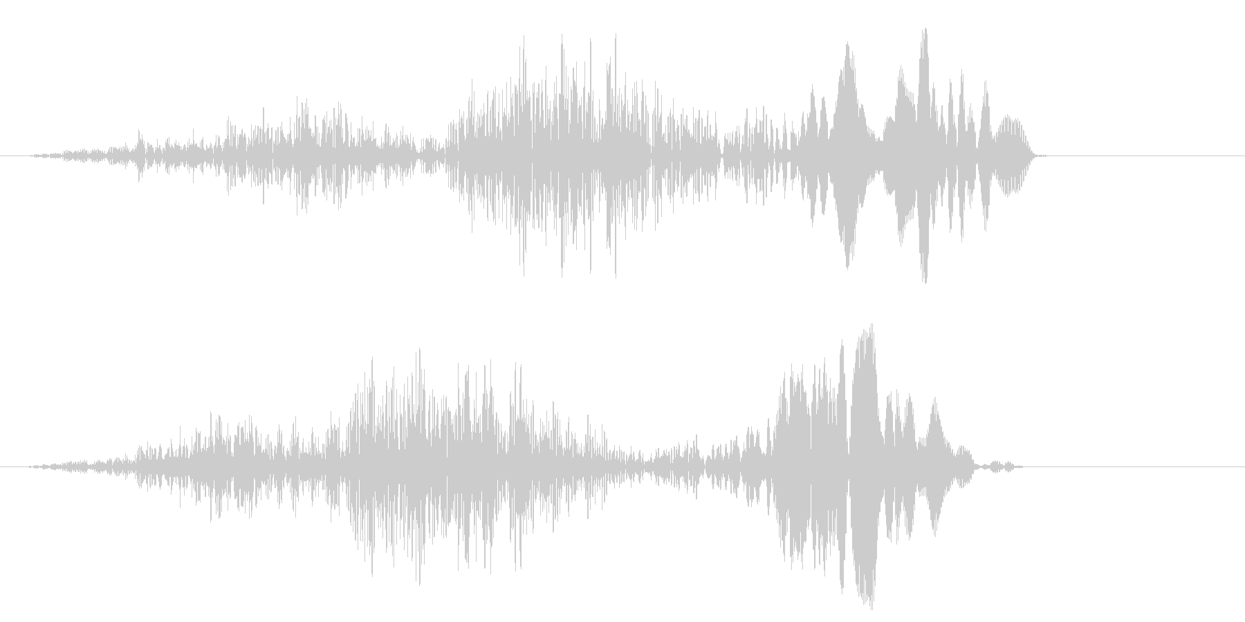 ヒュオッ(風が吹くような効果音)の未再生の波形