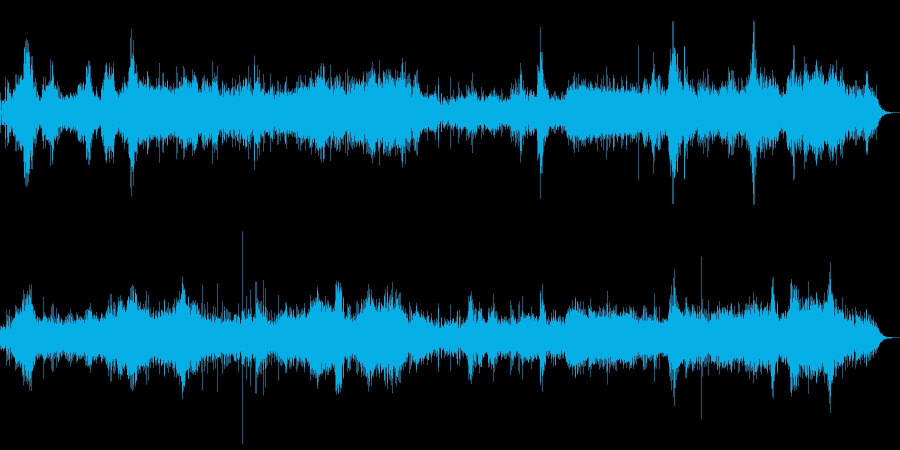 不気味なガリガリノイズのするホラーアンビの再生済みの波形
