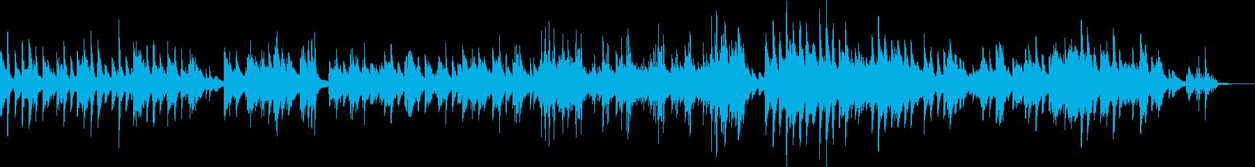 切なく美しいピアノ曲(悲しい・儚い)の再生済みの波形