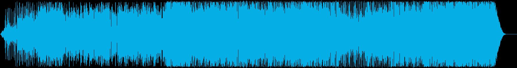 エスニックサウンドのドラマチックで...の再生済みの波形
