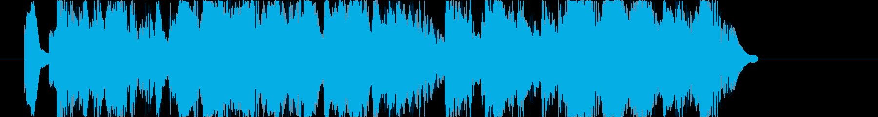 ジャジーでオシャレなジングルの再生済みの波形