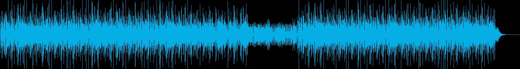 ファンキーなベースが印象的な曲の再生済みの波形