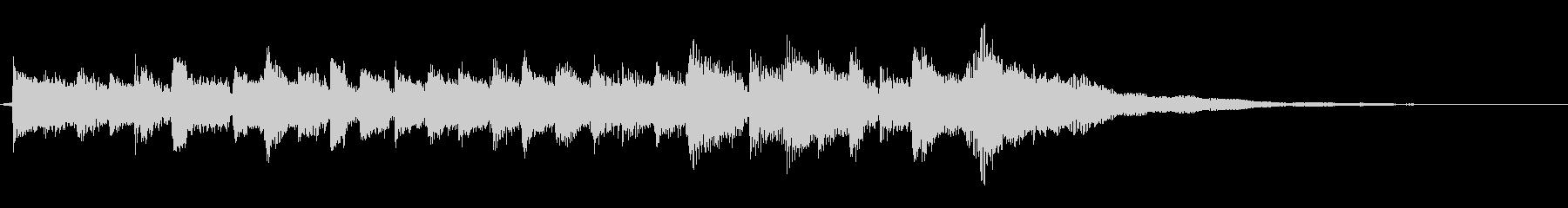 12弦ギターアルペジオ生演奏サウンドロゴの未再生の波形