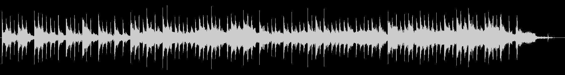 時計の音とフェルトピアノの優しいバラードの未再生の波形
