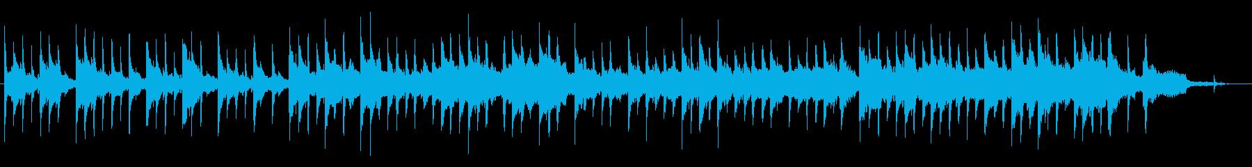 時計の音とフェルトピアノの優しいバラードの再生済みの波形