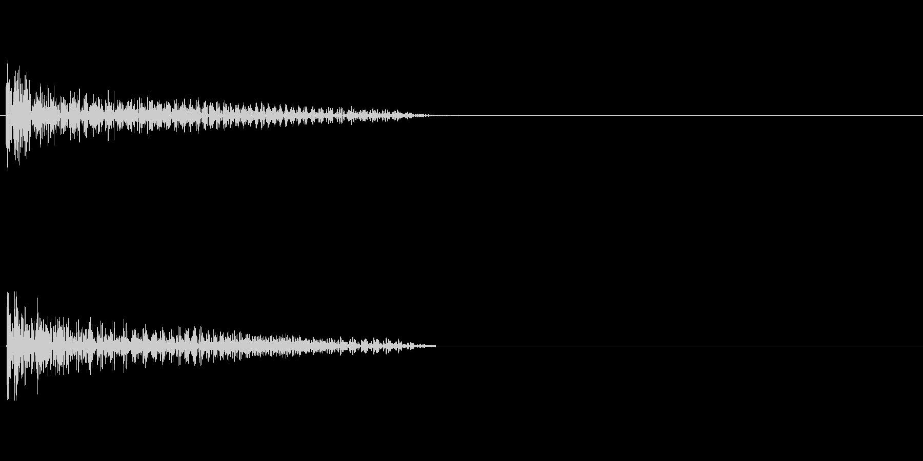 【衝撃02-2】の未再生の波形