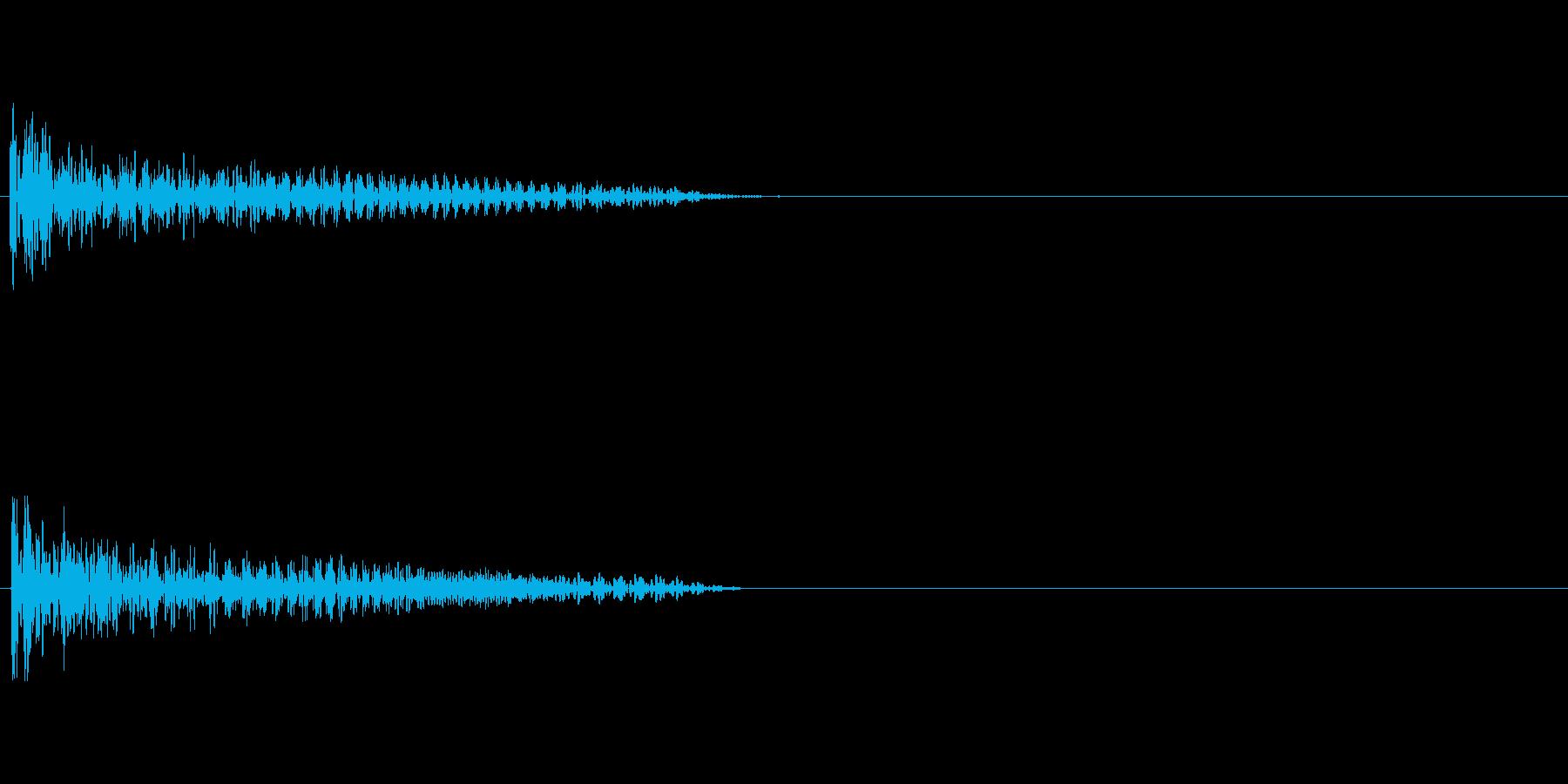 【衝撃02-2】の再生済みの波形