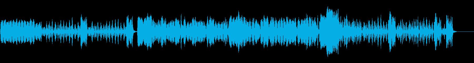 軽快なリコーダー曲の再生済みの波形