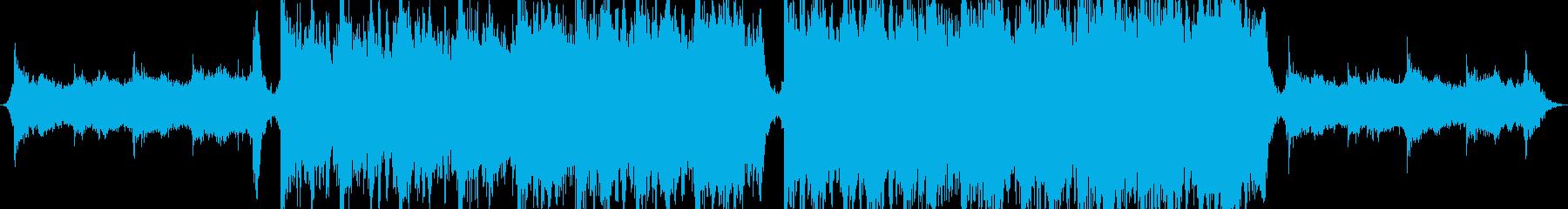 弦楽器を使用したオーケストラ音楽の再生済みの波形