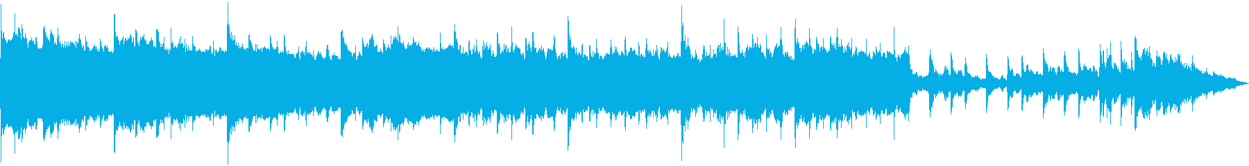悲しく寂しい雰囲気の電子音楽の再生済みの波形