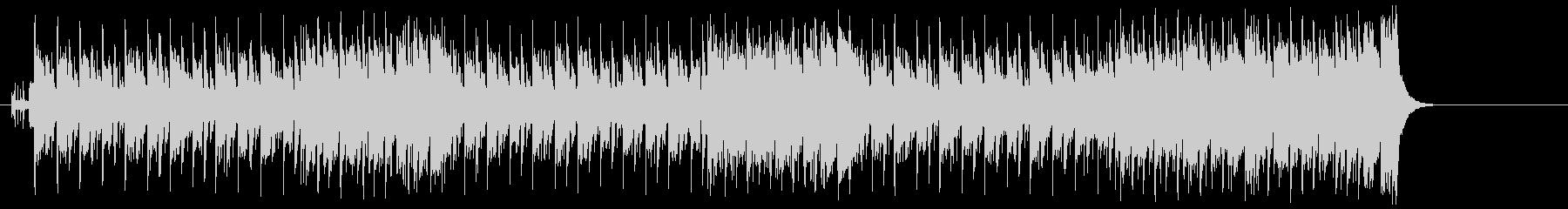 楽しさ満点の少しコミカルなタイトルBGMの未再生の波形