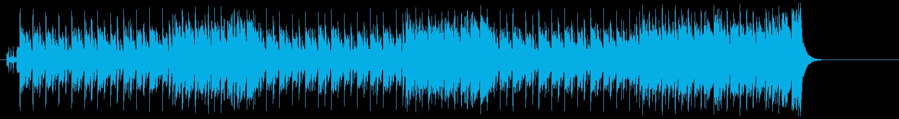 楽しさ満点の少しコミカルなタイトルBGMの再生済みの波形