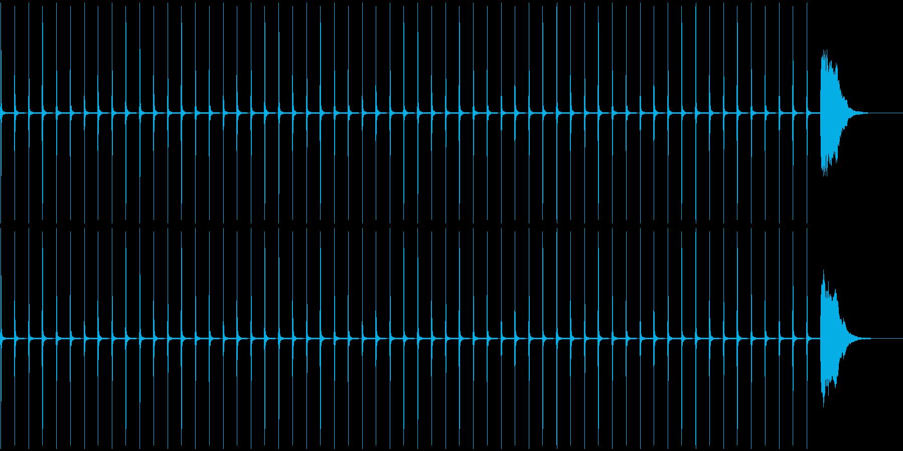 1分カウント2 (シンキングタイム用)の再生済みの波形