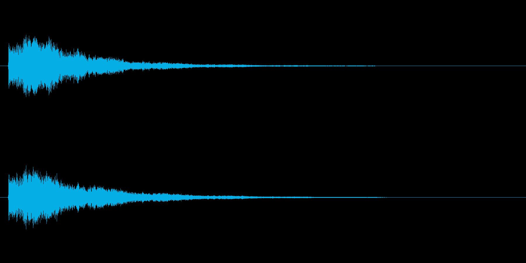 擬音【どわんーどわん】テクノの再生済みの波形