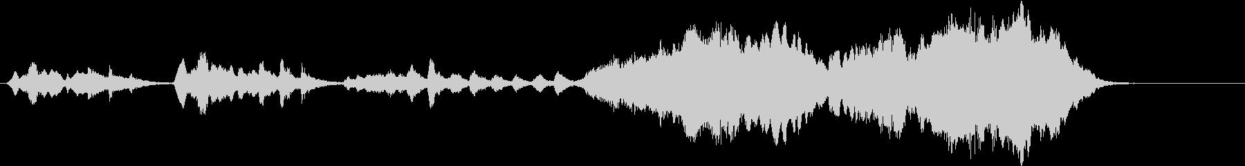 ほのぼのした短い小編成オーケストラの未再生の波形