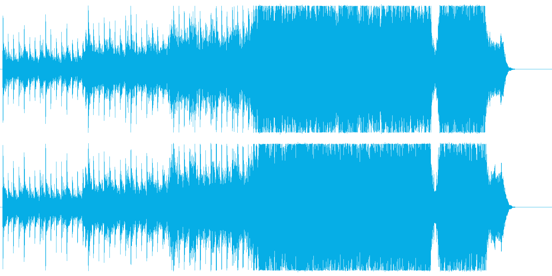 ハリウッド風BGM(ヒーロー登場)の再生済みの波形
