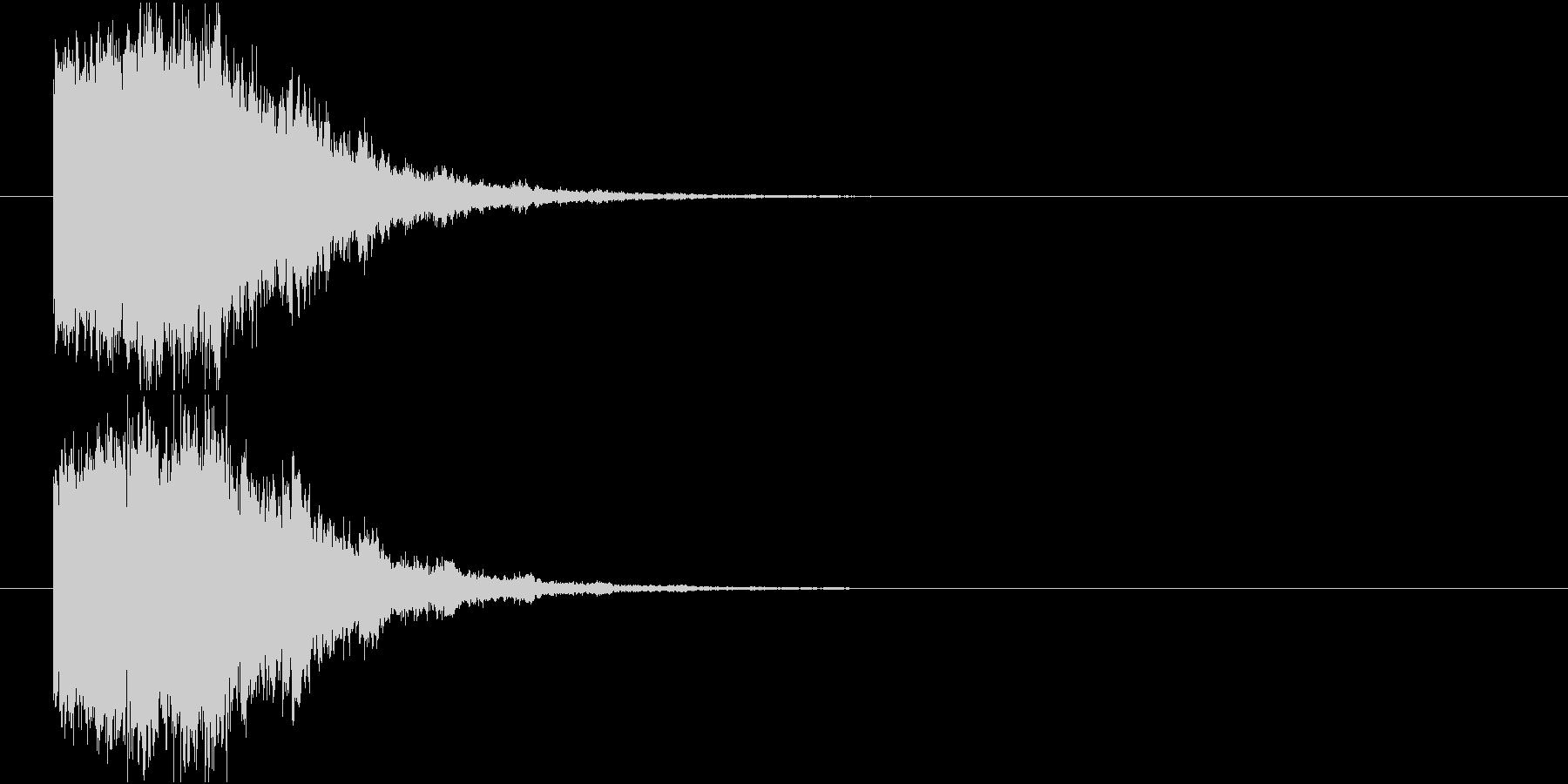 凍りつく_ロゴ表示インパクトの未再生の波形