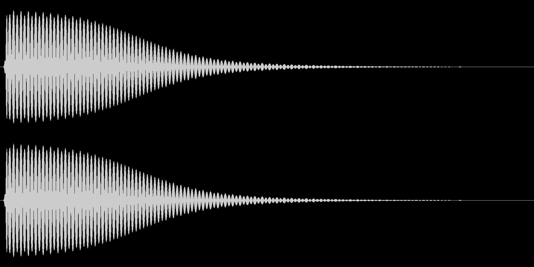 Com ファミコンなどのコマンド音 5の未再生の波形