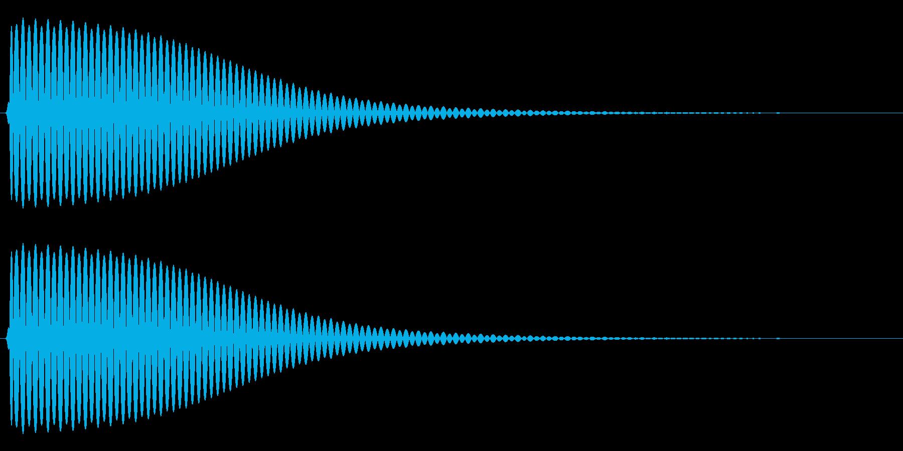Com ファミコンなどのコマンド音 5の再生済みの波形